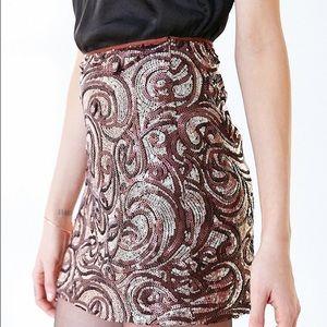 Silence & Noise Sequin Mini Skirt